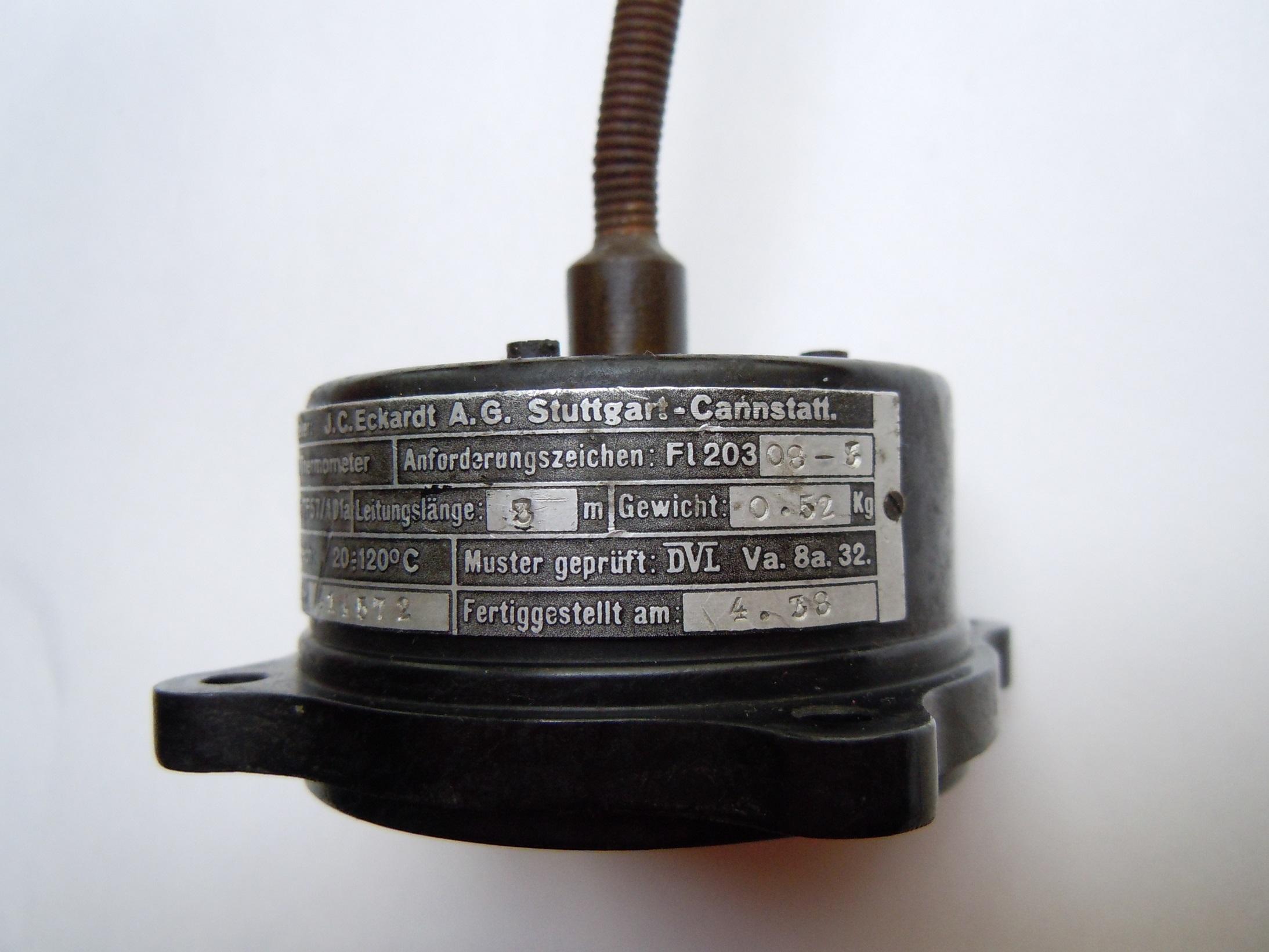 dampfdruckthermometer 1938 j c e. Black Bedroom Furniture Sets. Home Design Ideas